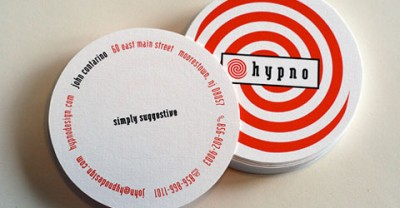 hypno creative business card design