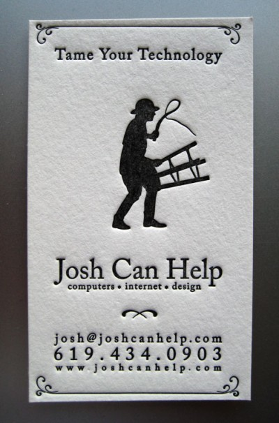 joshcanhelpdotcom creative business card design