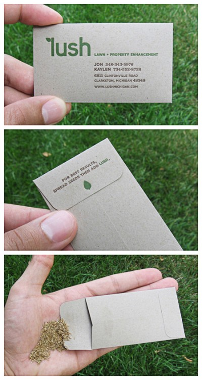 lawn property enhancement creative business card design