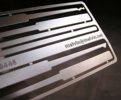 lock pick creative business card design