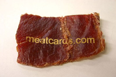 meat creative business card design