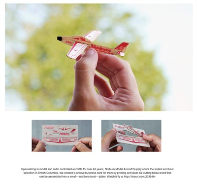 norburn model aircraft supply creative business card design