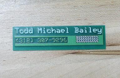 pcb layout creative business card design