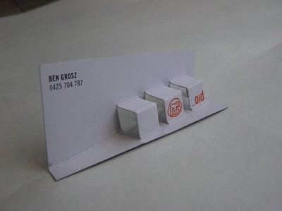 popup creative business card design