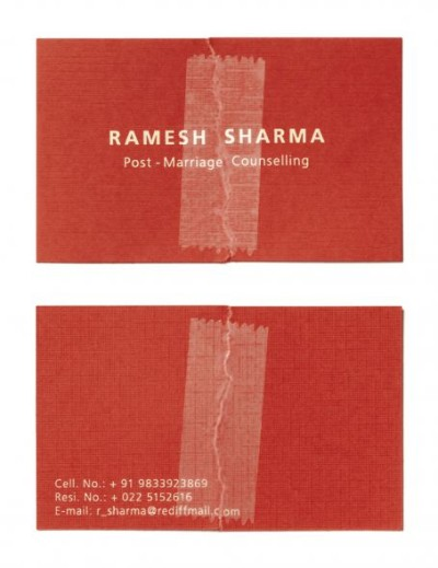 post marriage counselling creative business card design