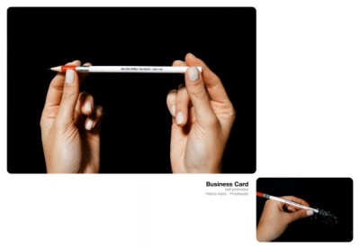 proofreader pencil creative business card design