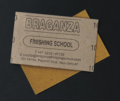 sandpaper creative business card design