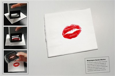 sandra martins makeup creative business card design