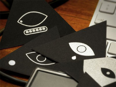 triangular creative business card design