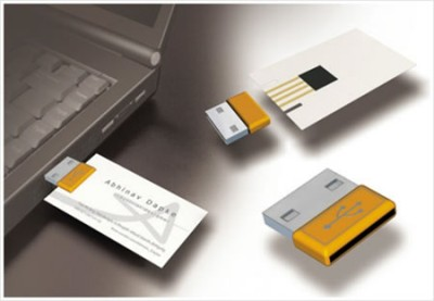 usb attached creative business card design