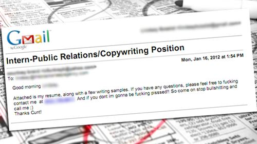 intern public relations copywriting position