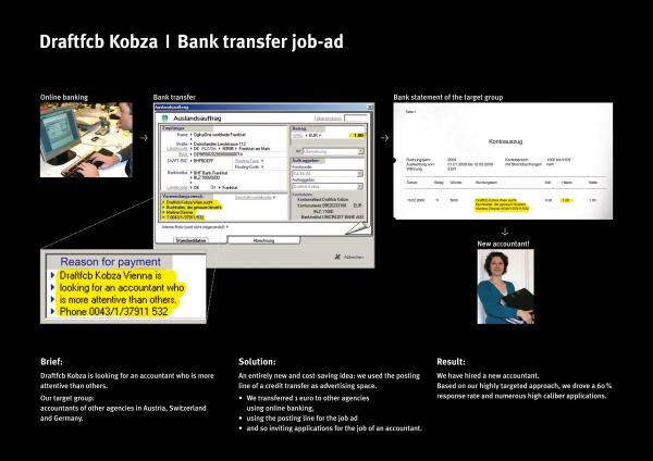 bank transfer recruitment marketing