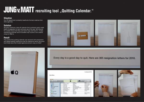 calendar quitting calendar recruitment marketing