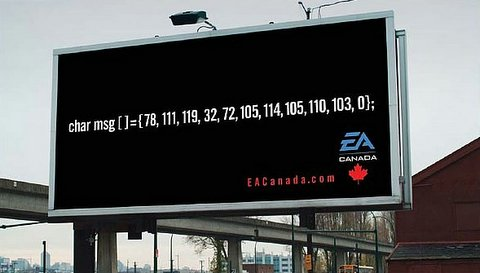 EA Canada billboard job ad