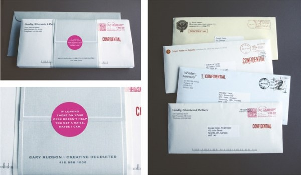 incentive envelopes recruitment marketing