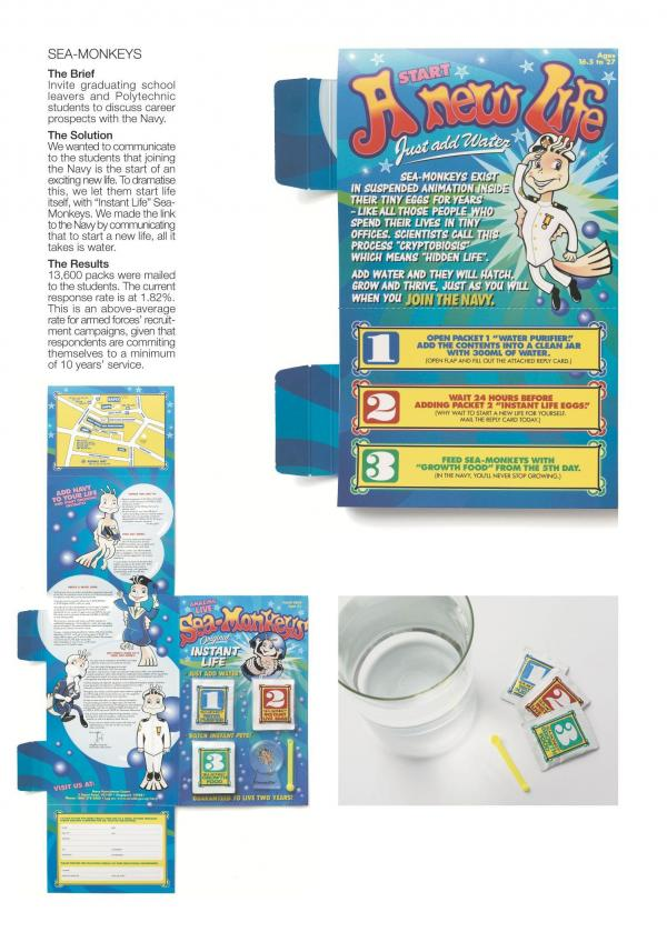 navy sea monkeys recruitment marketing