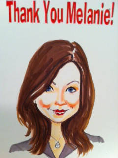 caricature thank you card