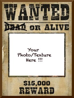 Wanted picture frame