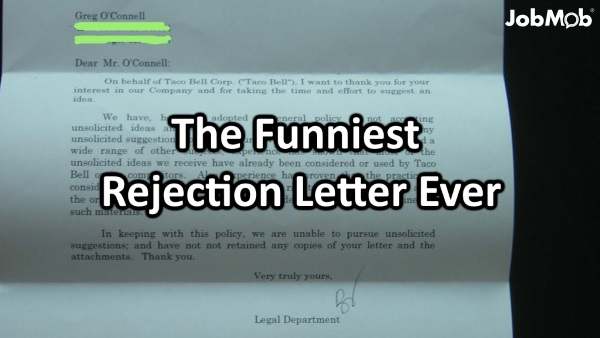 Image of: Pictures Jobmob Funniest Rejection Letter Ever