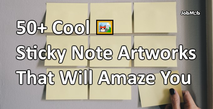 🖼 50+ Cool Sticky Note Artworks That Will Amaze You
