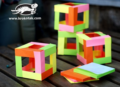 sticky note cubes