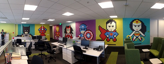 sticky note superheroes