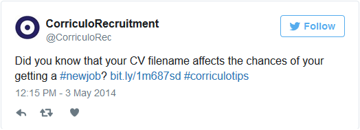 cv filename tweet