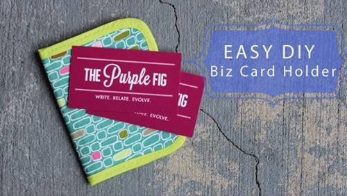 the purple fig fabric business card holder