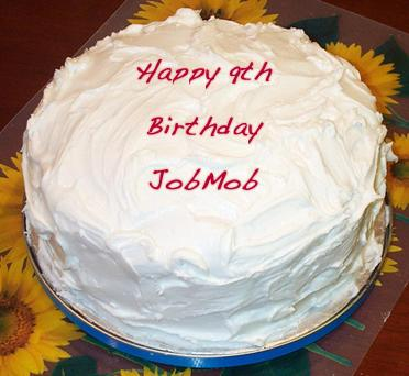 JobMob 9th birthday cake