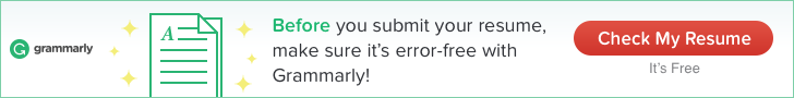 Before you submit your resume, make sure it's error-free with Grammarly