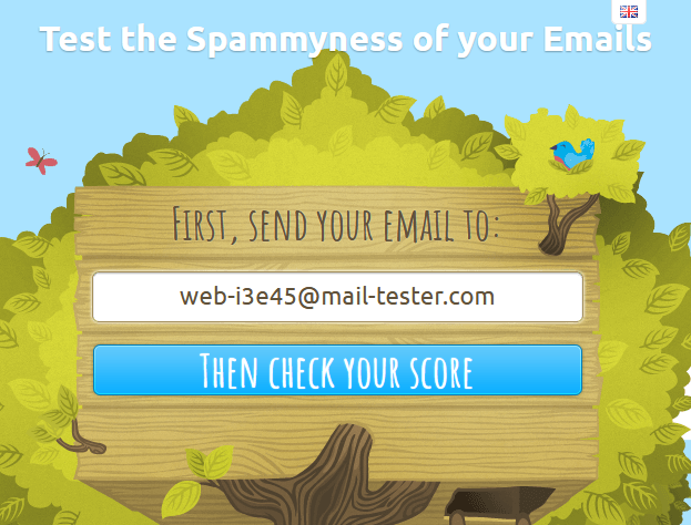 mail-tester homepage
