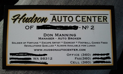 auto broker business card