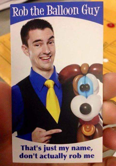 balloon guy business card