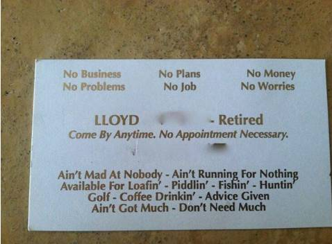 lloyd retired business card
