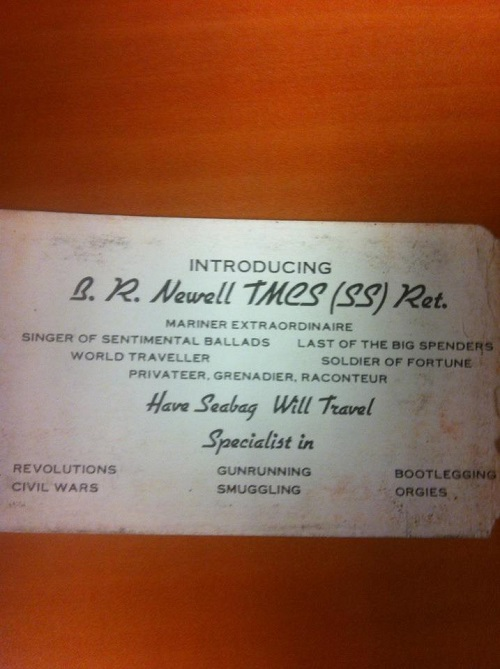 mariner extraordinaire business card