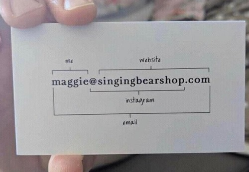 singingbearshop business card