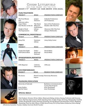 cougar littlefield acting resume