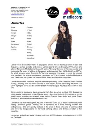 jamie yeo acting resume