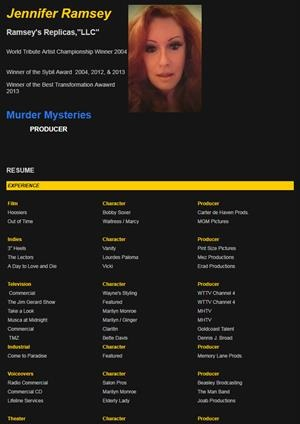 jennifer ramsey acting resume