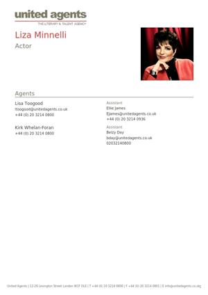 liza minnelli acting resume