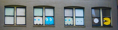 sticky note pac man