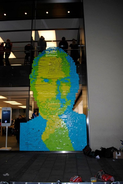 sticky note steve jobs